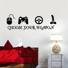 sports wall stickers gamer vinyl wall sticker game play room joystick e sports wall decals sports wall stickers