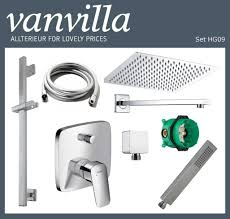 Details About Vanvilla Shower Set Rain Shower With Shower Fittings Hansgrohe Flush Polished Show Original Title