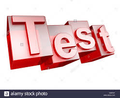 Word Test 3 Test Red White Background Word Letters 3 D Effect Character
