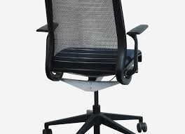 steelcase think office chair. Steelcase Office Chair Lovely Think Used Black Back Mesh Conference Blue Seat