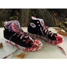 converse shoes for girls high tops. custom made bloody girls zombie shoes chucks converse all stars hi tops us size 3 shoes for girls high