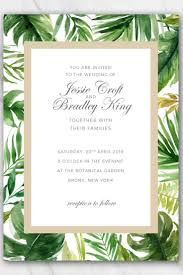 wedding invite template download tropical palm tree leaves wedding invitation template free