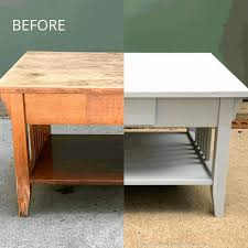 gray coffee table makeover a well