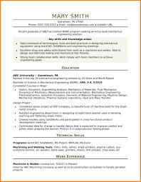Entry Mechanical Engineering Resume Business Opportunity Program