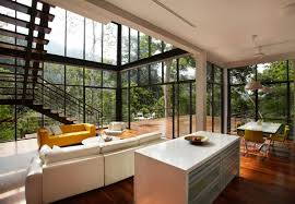 Interior:Tropical Interior Design To Keep Your Positive Energy Beautiful Tropical  Interior Design With Glass