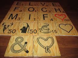 Decorative Tile Coasters Personalized Large Scrabble Letters Wall Art Ceramic 100x100 custom 39
