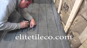 complete tile shower install studs to tile part 3 installing the pan liner you