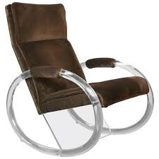 lucite rocking chair by charles hollis jones for