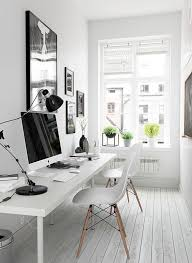 modern home office computer desk clean modern. Home Office Shared Desk Idea Modern. A Modern And Whitewashed Is Made Inviting With Computer Clean