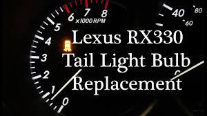 Lexus Rx330 Light Bulb Replacement Lexus Rx330 Tail Light Bulb Replacement Fix