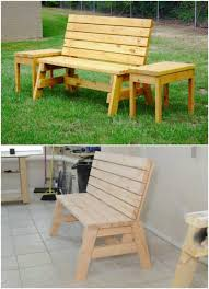 DIY wooden Bench And Side Table