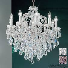 classic lighting maria theresa 10 light chrome crystal chandelier