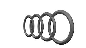 audi logo transparent. audi logo 3d model obj blend mtl 3 transparent