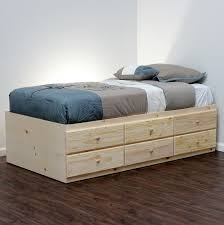 diy twin bed frame with storage ideas