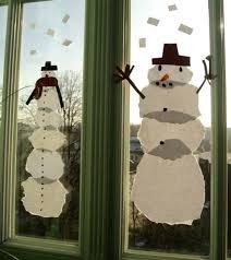 Riesen Schneemänner Als Fensterbild Weihnachten Basteln