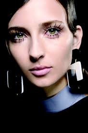 at marni the inspiration was a who went too far with eyelash extensions and