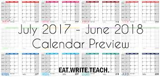 write in calendar 2018 eat write teach 2017 2018 calendars are now available
