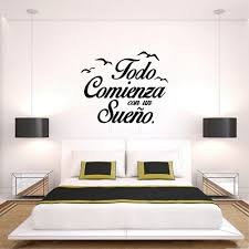 best spanish vinyl e everything starts dream wall stickers todo comienza sueno wall decals e birds
