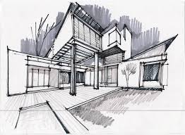 architecture design drawing. Drawn Bulding Concept Model Pencil And In Color Architecture Design Drawing ,