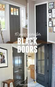 front doors painting your interior doors black