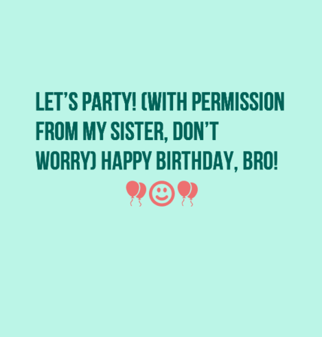 birthday status for brother in law