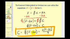 converting rature between celsius and fahrenheit