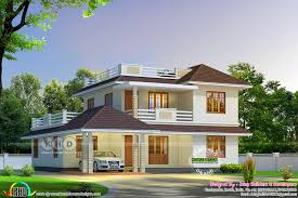 Square House Roof Design Cute Sloping Roof House 2680 Square Feet House Roof Design
