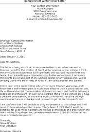 Grant Cover Letter Sample Conorfloyd Info