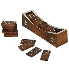 Amazon.com: Domino Game Educational Dominoes 28 Pieces Boat Type ...