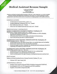 samples of medical assistant resumes cover letter sample of