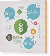 Crop And Finance Infographic Template Wood Print