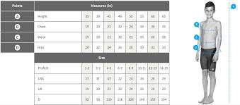Arena Swim Size Chart Sizing Charts