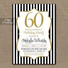 60 birthday invitations 60th birthday invitations black gold glitter 60 bday