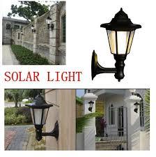 vintage outdoor solar wall light