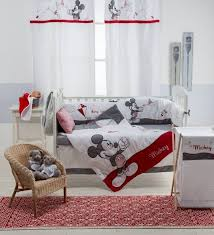 disney gray mickey 4 piece crib bedding set baby mickey crib set design