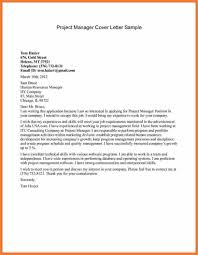 Project Manager Cover Letter Sop Proposal