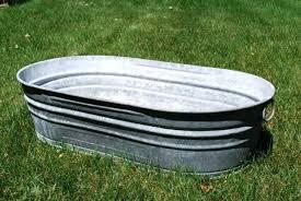 to galvanized steel bathtub metal outdoor