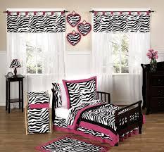 Pink And Black Bedroom Decor Gorgeous Zebra Print Bedroom Decor Plus Black Wooden Furniture