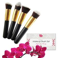 amazon professional kabuki makeup brushes set 4 pc cosmetic foundation make up kit beauty blending for powder cream face lip bronzer