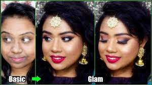 wedding guest makeup tutorial step by step for dark pigmented hyper pigmented skin in hindi