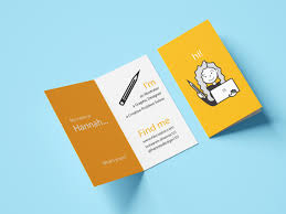 Graphic Design Before Graphic Designers Folded Business Card For Graphic Designer By Hannah Bryce On