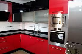 Cocinas Modernas Rojas Negras Decoracion Cocina Roja Blanca Disec