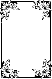 壁紙背景イラスト花のフレーム外枠 No007白黒切り絵風縦枠