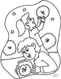 fly coloring page fireflies firefly jar coloring page