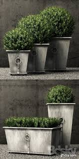 restoration hardware estate zinc ring square planters