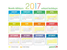 Printable: 2017 School Holidays In South Africa Calendar | Parent24