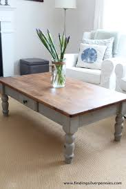 Coffee Table Painting French Linen Coffee Table Finding Silver Pennies