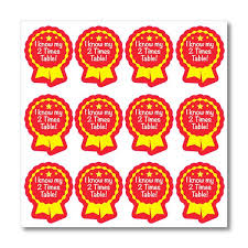 I Know My 2 Times Table Maths Stickers