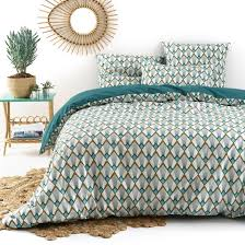 elisa art deco cotton percale duvet