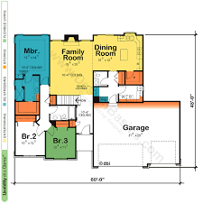 floor plan of a one story house. One Story House Plans, Home Ranch Floor Plans Plan Of A O